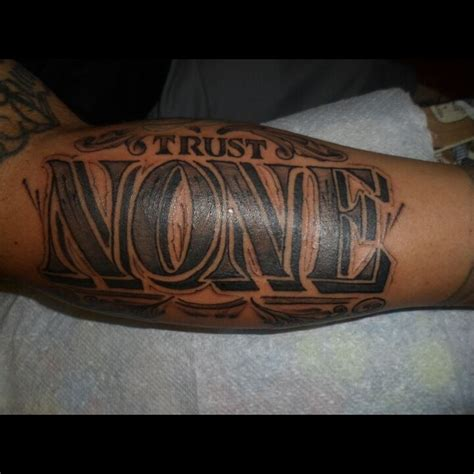 trust none tattoo trust none artist aj tenorio
