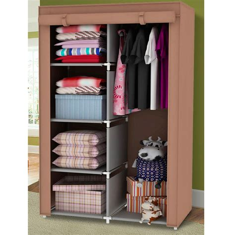 bedroom clothes storage 34 quot portable wardrobe clothes storage bedroom closet organizer with shelves ebay
