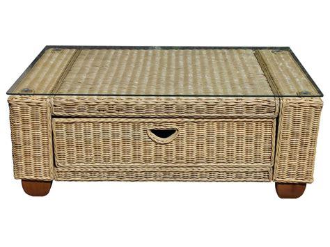 Coffee Table With Wicker Baskets Kingston Wicker Coffee Table