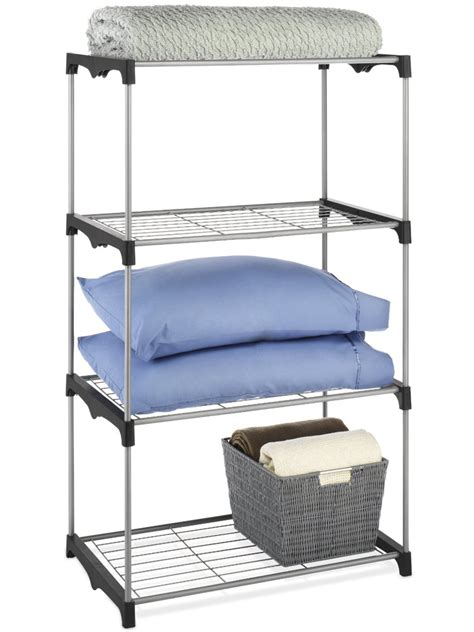 Free Standing Closet Shelving by Closet Shelves 4 Tier In Free Standing Shelves