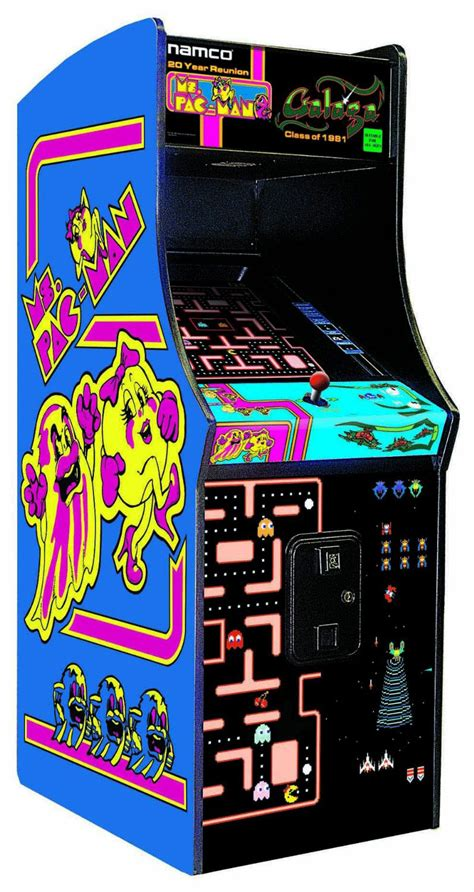 ms pacman arcade cabinet ms pacman galaga arcade s chuck e