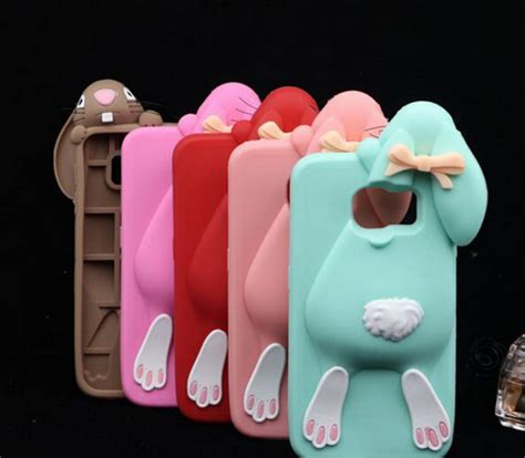 Casing Hp Samsung J7 Prime Trendy 3d Bunny Rabbit Soft Silikon samsung s8 plus character cases 3d bunny rabbit