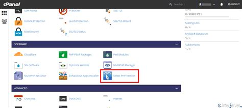 php section manage php and php settings in cpanel interserver tips