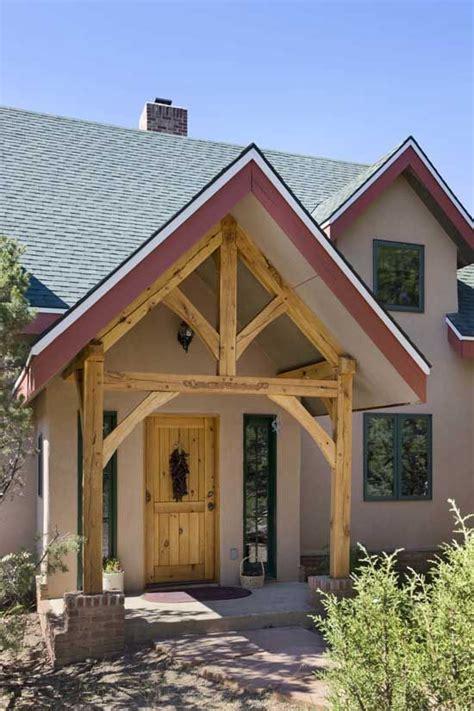 timber frame entrance timber frame porch timber house