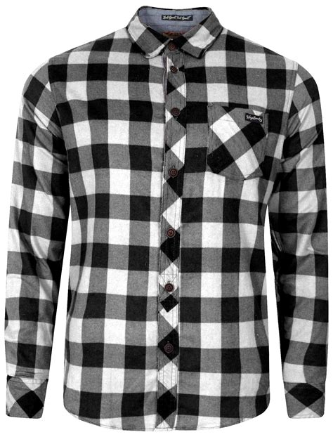 Checked Shirt wilding checked shirt in black white tokyo laundry