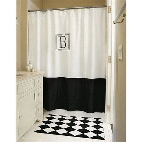 monogrammed shower curtain monogrammed classic shower curtain ballard designs