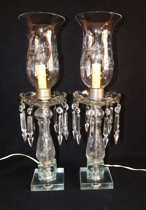 crystal hurricane table ls cut glass crystal table ls pair of vintage cut glass