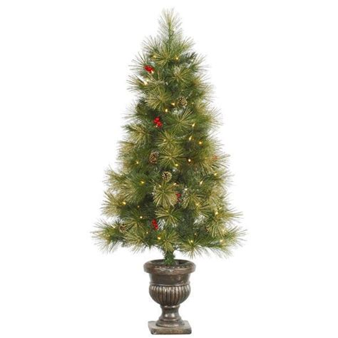 Small Fake Christmas Tree Poconos Pine Mini Artificial Lights For Small Trees