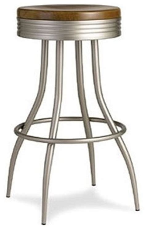 Bar Stools Brushed Nickel by 29 5 Quot Donovan Swivel Barstool With Brushed Nickel Set Of