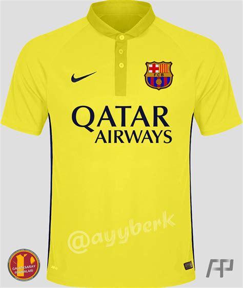 barcelona 2014 2015 jersey barcelona 2014 2015 third yellow jersey 1 by ayyberk