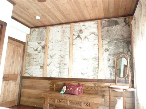 Ballard Designs Kitchen Rugs birch bark paneling rustic molding and trim other