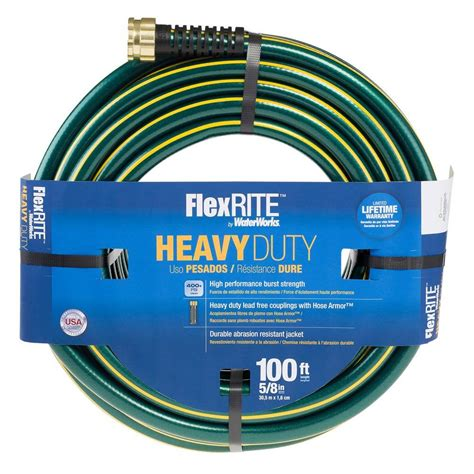 waterworks flexrite 5 8 in dia x 100 ft water hose