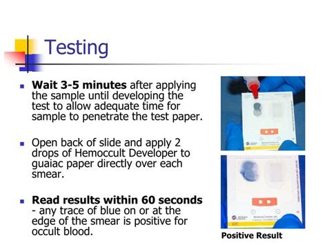 How To Take A Stool Test by Ppt Point Of Care Testing Hemoccult 174 Fecal Occult