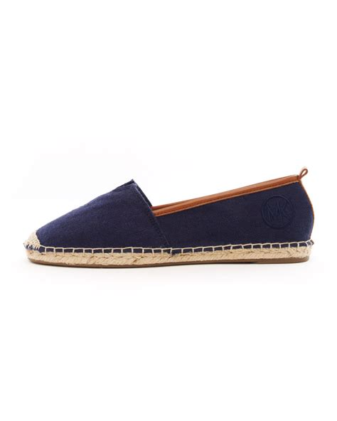 espadrille flat shoes lyst michael kors meg espadrille flat in blue