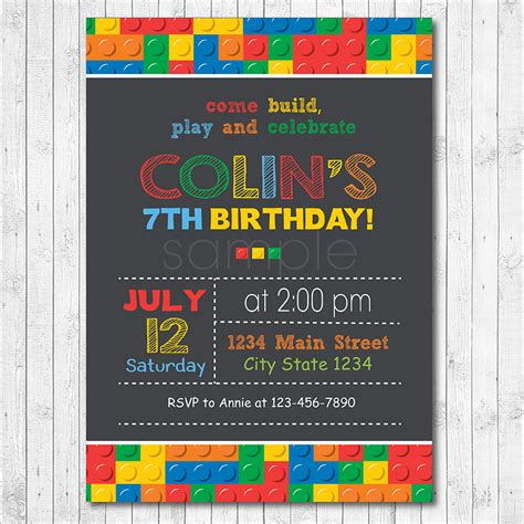 printable lego invitation cards lego invitation lego invite lego birthday lego party
