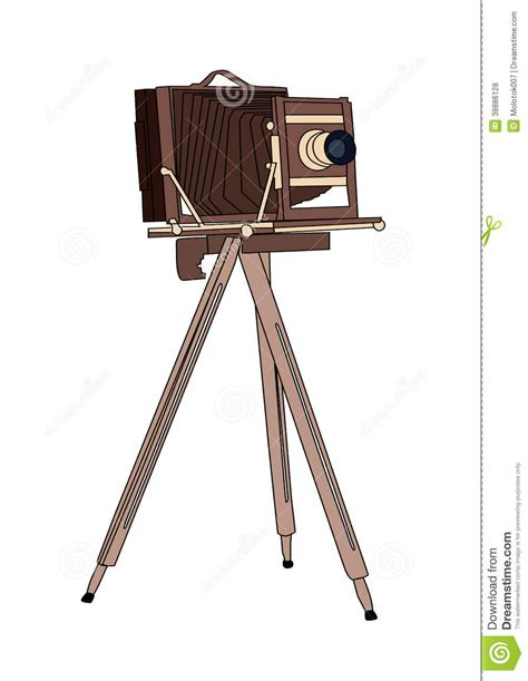Gestell Vintage by Wooden Classic Retro On Tripod Stock Vector