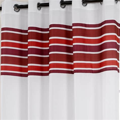 red and teal curtains royale striped eyelet unlined voile curtain panel
