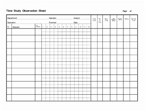 time motion study template time study worksheet daily activity log template