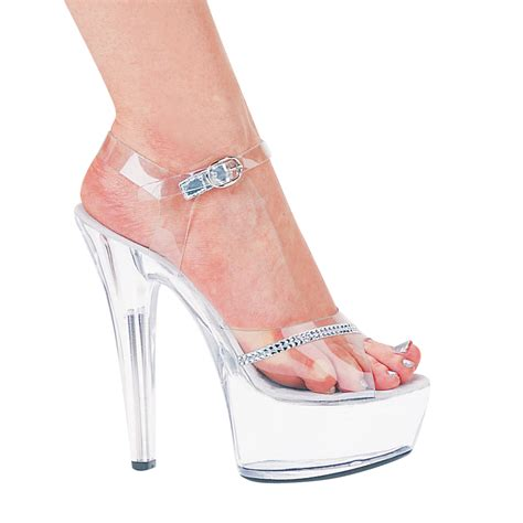 ellie 601 6 high heel clear platform