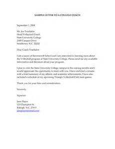 sle cover letter for college how to write a letter college coach for baseball cover