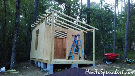 lean  shed  porch diy project howtospecialist