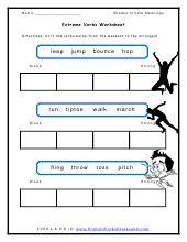 Shades Of Meaning Worksheets by Shades Of Verb Meanings Lists And Worksheets