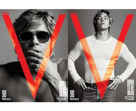Brad Pitt V Magazine by Now He S Showing His Clean Shaven Chiseled Looks For V