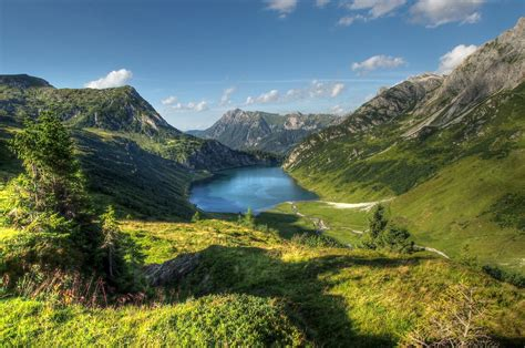 mountainscape with lake by burtn on deviantart