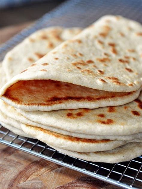 Pita Handmade - flatbread pocketless pitas recipe
