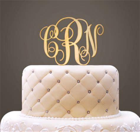monogram wedding cake monogram cake topper monogram letter cake topper