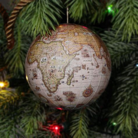 maps ornaments christmas globes holidays ideas world