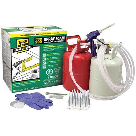 spray foam kits touch n foam professional system 200 2 component spray