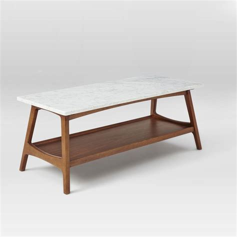 Coffee Table Mid Century Reeve Mid Century Rectangular Coffee Table West Elm Au