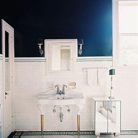 navy and white bathroom 30 ideas for subway tile beadboard bathroom