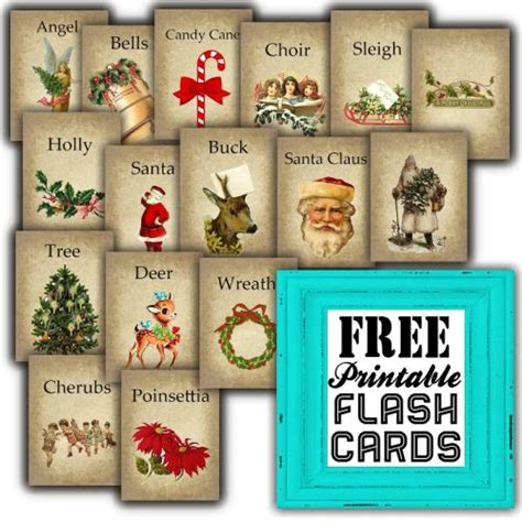 printable christmas flashcards sweetly scrapped free printable vintage christmas flash cards