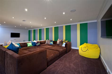 pit sofa basement  room sectional couch theatre room