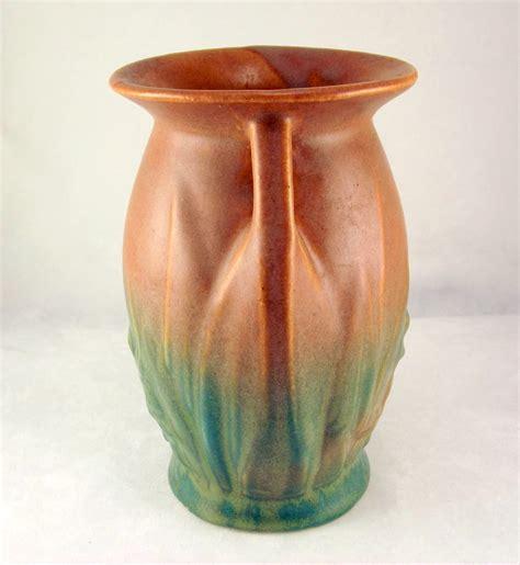 Mccoy Vase by Nelson Mccoy Blended Glaze Pottery Vase Matte Brown
