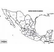 M&233xico Mapa Gratuito Mudo En Blanco
