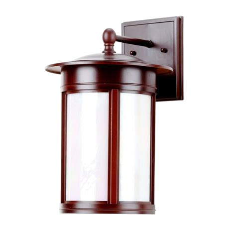 backyard lighting home depot home depot outdoor light hton bay harbor 1 light copper outdoor small wall lantern