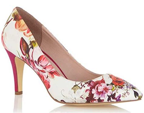 flower shoes canada oasis floral print mid heel court shoes gt shoeperwoman