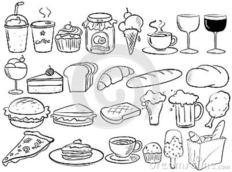 free vector food doodle food doodles stock vector image 51481239