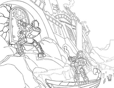 lego knights ank king leading the army coloring pages
