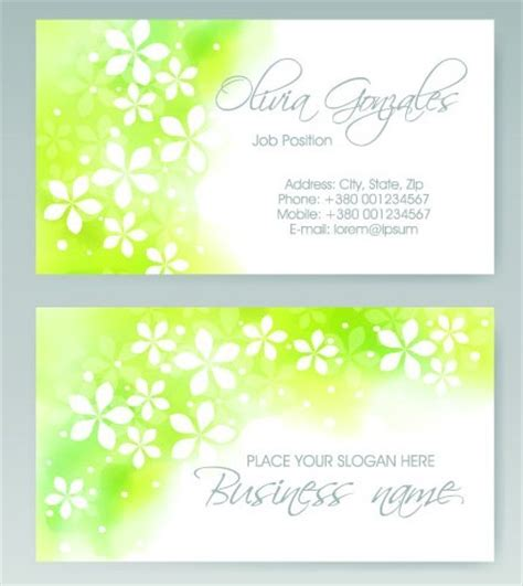 Free Vector Vertical Business Card Set 05 Titanui Card Background Templates 2