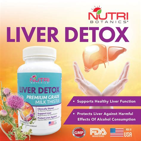 Probiotics Liver Detox by Milk Thistle Supplement Singapore Nutra Botanics