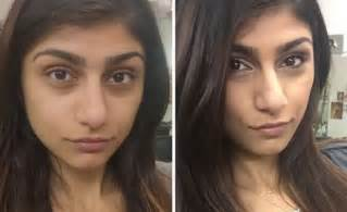 Mia khalifa showed what she looks like before and after her porn