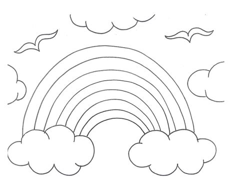 rainbow coloring page kindergarten rainbow coloring pages for preschool az coloring pages