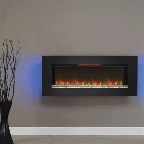 felicity  wall mounted infrared quartz fireplace black