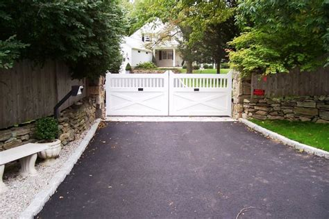 white wooden gate 17 best images about driveway gates on wooden