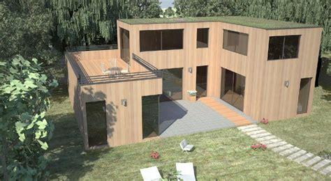 terrasse 50 chs elysées maison en bois toit plat mtallique dco extension maison