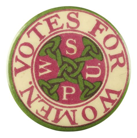 votes for women badge: c.1910 by women's social and